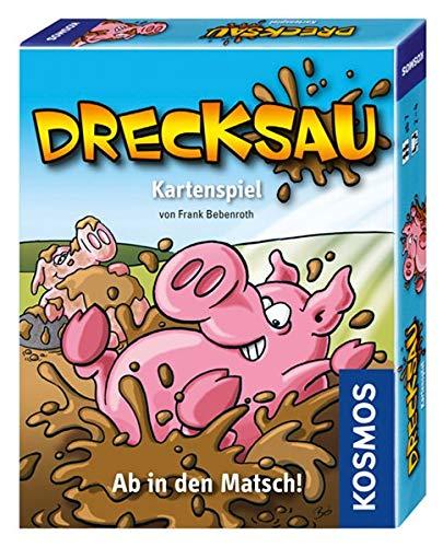 KOSMOS 740276 Drecksau - Ab in den Matsch! lustiges Karten-/Partyspiel
