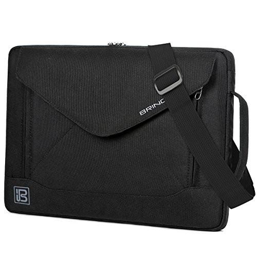 BRINCH 14 Inch Laptop Sleeve Case Protective Bag,Water Resistant Envelope Style Laptop Carrying Case with Handle for Men Women Compatible 13-14 Inch MacBook Pro/Notebook/Chromebook/Ultrabook, Black