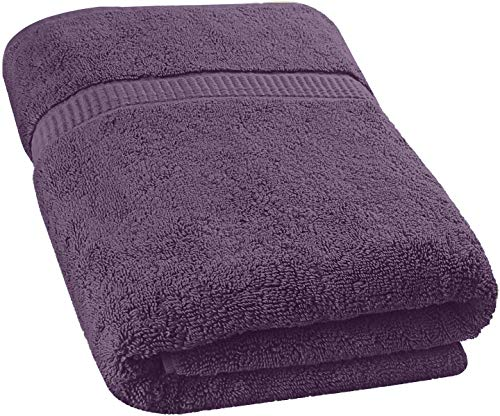 Utopia Towels - Luxurious Jumbo Bath Sheet (35 x 70 Inches, Plum) - 600 GSM 100% Ring Spun Cotton Highly Absorbent and Quick Dry Extra Large Bath Towel - Super Soft Hotel Quality Towel