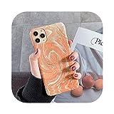 Zhiia光沢のあるカラフルな流砂台風パターン電話ケースFor iphone 11プロマックスXSマックスXR 6 6S 7 8プラスX PCハードバックカバー-Orange-For iphone X or XS