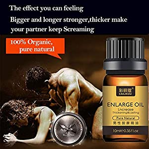 Male Sensual Massage Oil, Energy Massage Essential Oil for Sex, Stress Relief Increase Cock Thickening Growth Permanent Delay Enlargement Essential Oils for Men