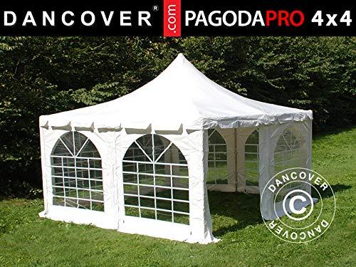Dancover Partyzelt Pavillon Festzelt Pagoda PRO 4x4m, PVC