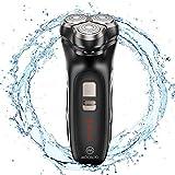 MooSoo Rasierer Herren Elektrisch, Nass-Trockenrasierer Wasserdicht mit Popup-Rasier, LCD-Anzeige, 60 Min. Laufzeit, USB schnell wiederaufladbar, 100-240V