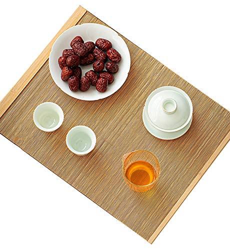 FTL&HONG Corredor de Mesa de bambú de Estilo japonés, esteras de té Antideslizantes Resistentes al Calor, casa de Campo/Sala de dinng/Sala de té/placemat de Oficina, 120/150/180/210 cm de Largo