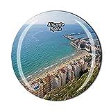 Alicante España 3D Imán para nevera nevera de cristal imán de cristal de vidrio turístico viaje colección recuerdo etiqueta magnética regalo decoración del hogar cocina
