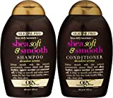 [ NEW COMBO] OGX Frizz-defy/Moisture SHEA SOFT & SMOOTH SHAMPOO + CONDITIONER 13 OUNCE EA...