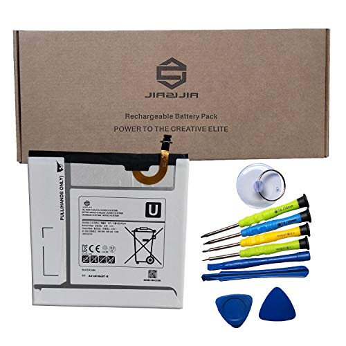 JIAZIJIA EB-BT367ABA Laptop Tablet Battery Replacement for Samsung Galaxy Tab SM-T380 SM-T385 SM-T375 SM-T375L SM-T375S SM-T377 SM-T377A SM-T377P SM-T377V Series EB-BT367ABE Tools 3.8V 19Wh 5000mAh