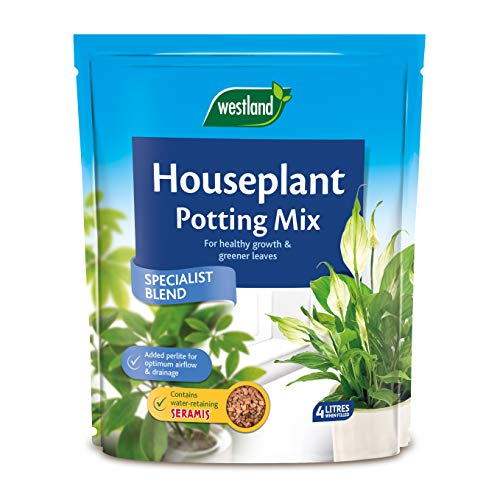 Westland 10200053 Houseplant Potting Compost Mix and Enriched with Seramis, 4 L, Brown
