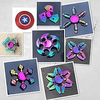 Fidget Spinner Metal Hand Spinner Focus Decompression Toy Stainless Steel Metal Fidget Toys Fingertip Gyro Stress Relief C...