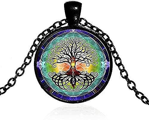 CCXXYANG Co.,ltd Collar Collar De Hombre S Vintage Collar De Amuleto Encanto Yoga Chakra Colgante Árbol De La Sabiduría Collar Hecho A Mano Joyería De La Buena Suerte