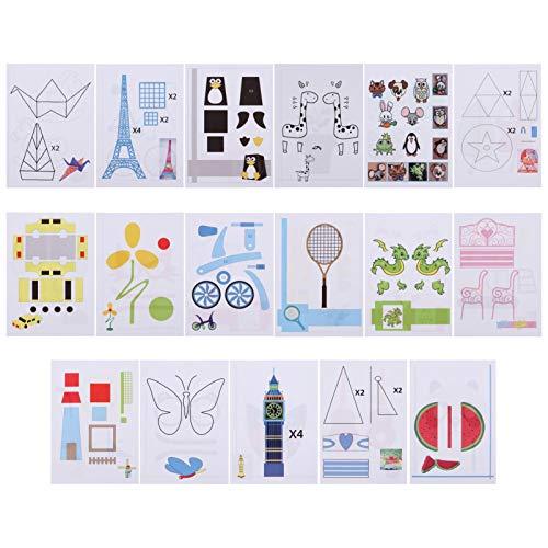 Supvox 17Pcs Stampi da Disegno per Stampante 3D Stencil di Carta Modello di Graffiti Modelli di Carta da Disegno per Penna da Stampa 3D Forniture per Bambini (Modello Misto)