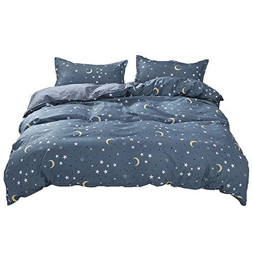 Sticker superb Mystère Galaxie Étoile Cosmos Housse de Couette avec Fermeture éclair, Garçon Fille Cosmos Scintillait Étoile Rose Bleu Blanc Parures de Lit Été Hiver L'automne (Étoile 4, 220x240cm)