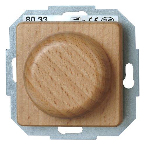 Kopp 800931089 Milano Buche Dimmer mit Wippen-Wechselschalter (Phasenanschnitt) RL