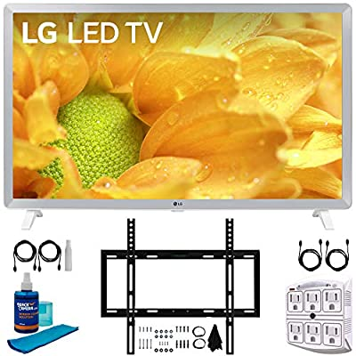 "LG 32LM620BPUA 32"" HDR Smart LED HD TV (2019) w/Wall Mount Bundle Includes, Deco Mount Flat Wall Mount Kit, 2X 6ft HDMI Cable, SurgePro 6-Outlet Surge Adapter w/Night Light & Universal Screen Cleaner"