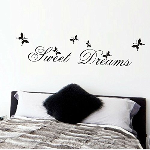 Sweet Dreams Wall Stickers Bedroom Decoration DIY Home Decals Quote Mural Printing Poster Wall Stickers Waterproof A9 13x57cm