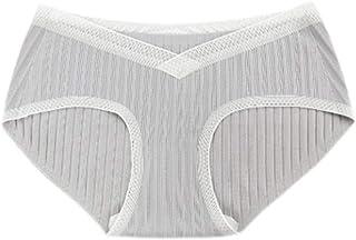GYUANLAI Women's stripe Low waist Lace Breathable Comfortable Under Bump Stretch Maternity Underwear Panties