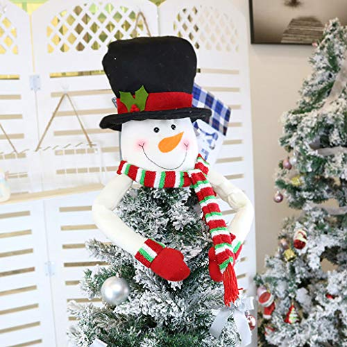 Shirt Luv Christmas Tree Topper Cute Top Hat Winter Party Tree Decorations Ornament Fall Decor for Home Farmhouse Ornaments