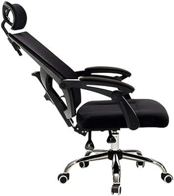 人間工学に基づいた椅子、高さ調整可能、ゲームチェアメッシュ素材、ホーム/オフィスに最適、360°回転、ペダル付き、組み立てが簡単