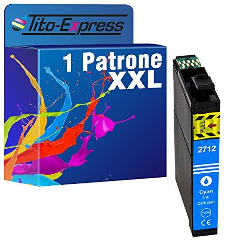 Tito-Express PlatinumSerie 1x Patrone XXL für TE2712 kompatibel mit Epson Blau Workforce WF-3600 Series WF-3620 DWF WF-3620 WF WF-3640 DTWF