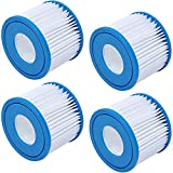 Type VI Spa Filter Cartridge Compatible with SaluSpa, Lay-Z-Spa Inflatable Hot Tubs, Spa Filter Replacement Cartridge Type VI Compatible with Bestway, Coleman Type VI Spa Filter Cartridges (4 Packs)
