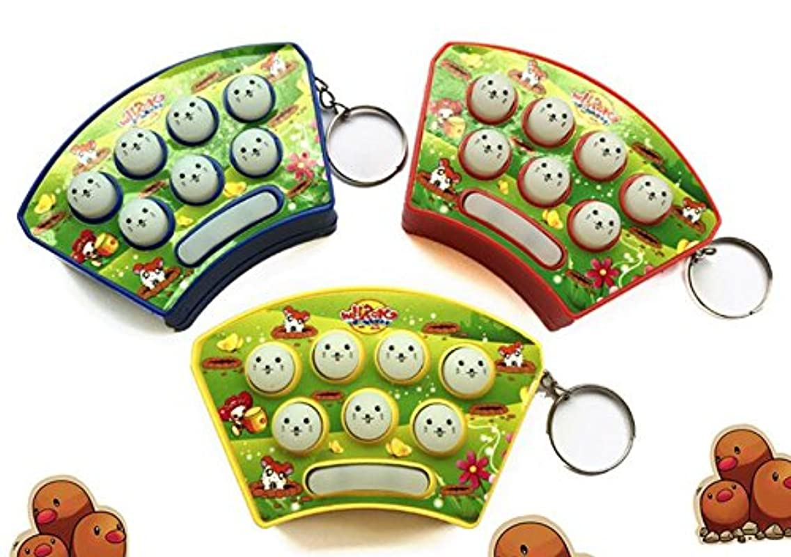 Dalino Babys Toys Children's Mini Handheld Hamster Game Toys Keychain(Random Color)
