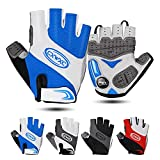 Cycling Gloves for Men Women - Breathable Gel Road Mountain Bike Riding Gloves - Anti-Slip Half Finger Glove for Fitness Cycling Training Outdoor Sports