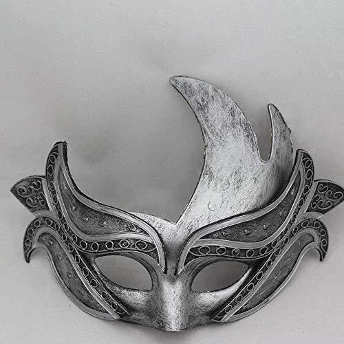Lqp-miaju Se utiliza for la mascarada, Halloween, máscara de Partes, accesorios, gladiadores;Máscaras negro dominante, Máscaras de gama alta;También se puede utilizar como decoraciones, regalos.Hallow