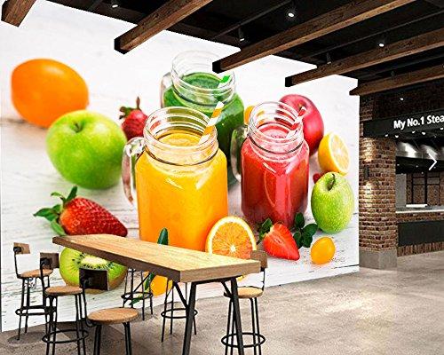 WH-PORP Snoepjes Ijs Fruit Voedsel Foto 3D Behang, Woonkamer Tv Achtergrond Muur Bank Muur Slaapkamer Keuken 350cmx245cm