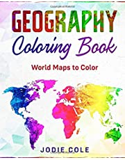 Geography Coloring Book: World Maps to Color