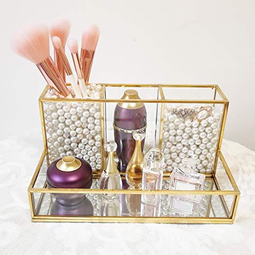 XKMY Joyero organizador nórdico vintage para niñas, caja de joyería de cristal, caja de almacenamiento para joyas, caja de regalo de gemas para el hogar (color: Style3)