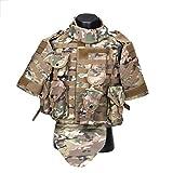 HUAJIANGHU Chaleco Táctico del Camuflaje Body Armor Combate del Chaleco con La Bolsa/Cojín De Airsoft Militar Asalto Portador De La Placa Ropa Táctico (Color : MC Camo, Size : One Size)