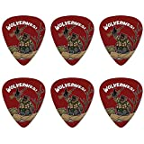 Wolverines War Rifle Neuheit Guitar Picks Medium Gauge - Set von 6