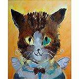 LiMengQi Salon Peinture Murale Artiste Vivant décoration Peinture Chat Impression...