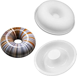 2-Pack 7 inch Round Silicone Donut Mould - Chocolate Mousse Mould - DIY Decorative Baking Tray - Baking Tools Cake Decorat...
