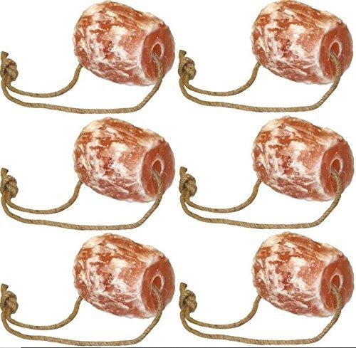 Cajou 2 € / kg 6 x Himalaya Pferdeleckstein (10,5 kg) mit Aufhängung