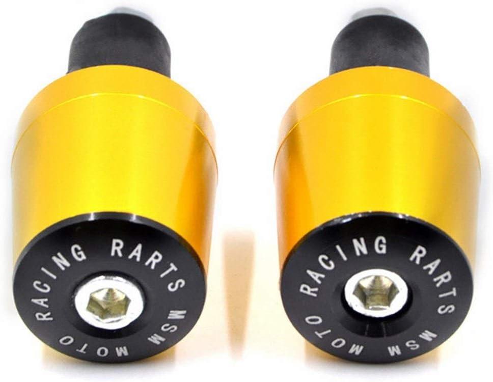 BJKKM Durable 2pcs CNC Moto Route VTT V/élo Guidon Cap Main Poign/ées Bar Bouchon 7//8 /« /» Guidon Moteur 22mm Contrepoids enserre extr/émit/és Moto Color : Golden