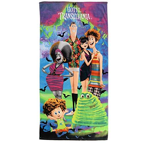 "Franco Kids Super Soft Cotton Beach Towel, 28"" x 58"", Hotel Transylvania"