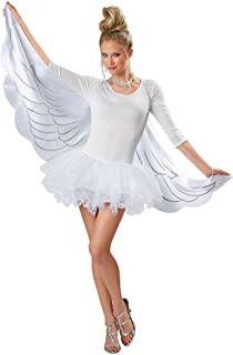 Direct Adult White Angel Cape Wings, One Size