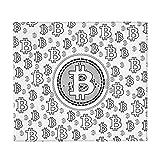 Bitcoin Lineart - Alfombrilla de secado de platos para contador de cocina, absorbente, antideslizante, escurridor, alfombrilla protectora para fregadero, 46 x 41 cm