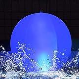 LED Solarlichter,LED Solar Kugelleuchte 14' LED Solar Ball Licht Schwimmende Pool Lichter Wasserdichte,Farbwechsel LED Nachtlicht Party Decor für Garten,Hochzeit,Strand,Hof,Rasen, Patentiert(1PCS)