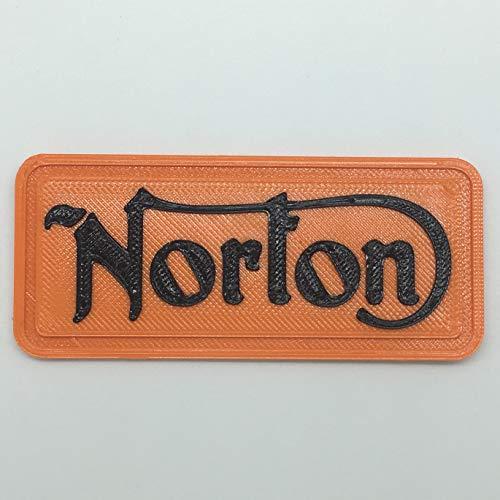 Parche Parche Logo Flexible Impreso 3D, cucibile, Adhesiva, magnética, Norton-Dim 7,5x 3,5cm-réplica