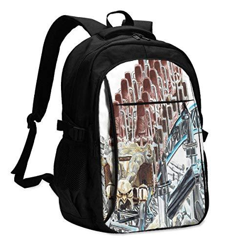 Hdadwy Taron bei Phantasialand 3D-Druck mit USB-Rucksack, Schultasche, Reisetasche, Bergsteigertasche