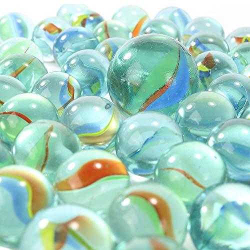 PhiLuMo - 80 biglie da 16 mm di diametro + 1 biglia da 25 mm di diametro, in vetro, ideali per giocare