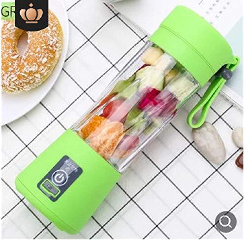 B/H Mini Batidora de Vaso con Cuchillas,Exprimidor portátil multifunción, licuadora Recargable USB Verde,Licuadora Portátil Mini Batidora