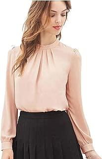 TOPUNDER 2018 Women Summer Blouse Fold Casual Shirt Chiffon Long Sleeve Tops
