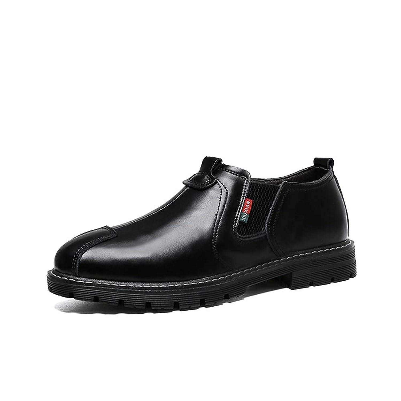 [Hardy] シューズ 防滑 ビジネス メンズ 通気 カジュアル 耐久 ハイキング 革靴 軽量