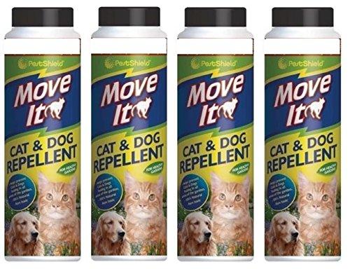 4 X Pestshield Move It Cat & Dog Jardin Répulsif Non Toxique 100% Naturel 240 g