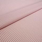 Hans-Textil-Shop 1 Meter Stoff Meterware Streifen 2 mm