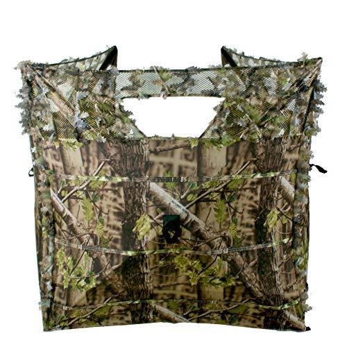 Auscamotek Turkey Hunting Pop up Ground Blind Portable Quick Setup Lightweight Deer Blind Camouflage Tent Green