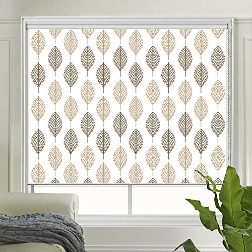 LETAU Light Filtering Window Shades, Patterned UV Protection Roller Shades Blinds for Home, Door, Club, Hotel,Restaurant